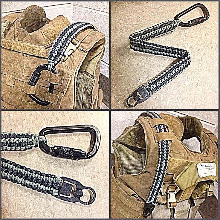 Custom paracord sling made for a plate carrier
