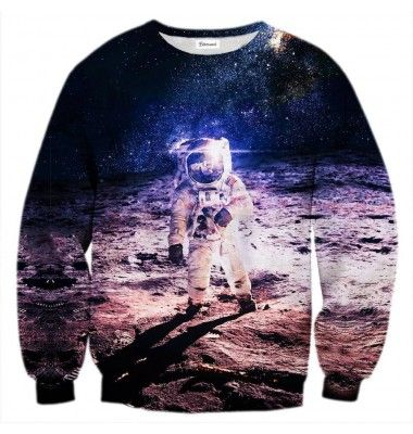 We'd love to paraphrase Neil Armstrong here. Making this jumper was a small step for us, a giant leap for mankind - in the fashion sense. Be the star of the party with the astronaut print. www.bittersweetparis.com