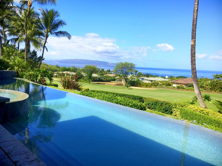 Another Day In Paradise . . . . #maui #poolcleaning #pureimagepools #paradise #clear #blue #kihei #palmtree #local #business #hawaii