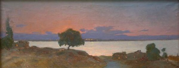 In the Evening on the Amu-Darya River Kdyrbay Saipov 1939-1972. Studied at the Art School in Tashkent 1952-1957. After graduating from it, he began to work at the State Musical Drama and Comedy Theatre in Nukus.During a short term the artist designed and decorated over 50 performances. K.Saipov was one of the first Karakalpak professional artists and despite his very short life he had a significant influence on development of Karakalpak Fine Arts.