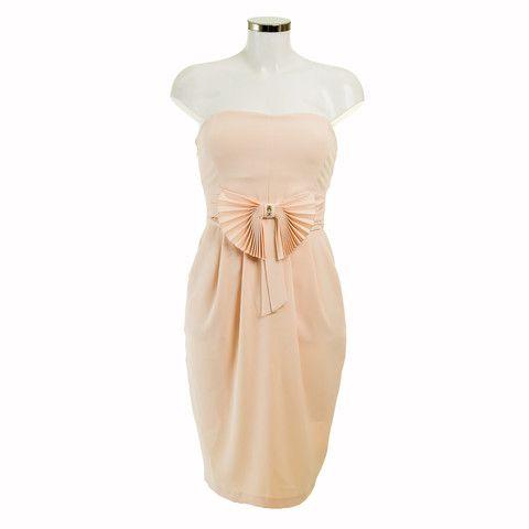 Elisabetta Peach strapless Dress   Debra Chigwell
