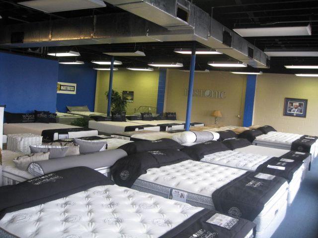 Our showroom at Wildcat Mattress Lexington