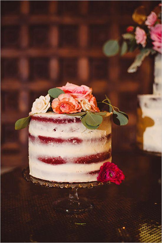 almost naked wedding cake @weddingchicks