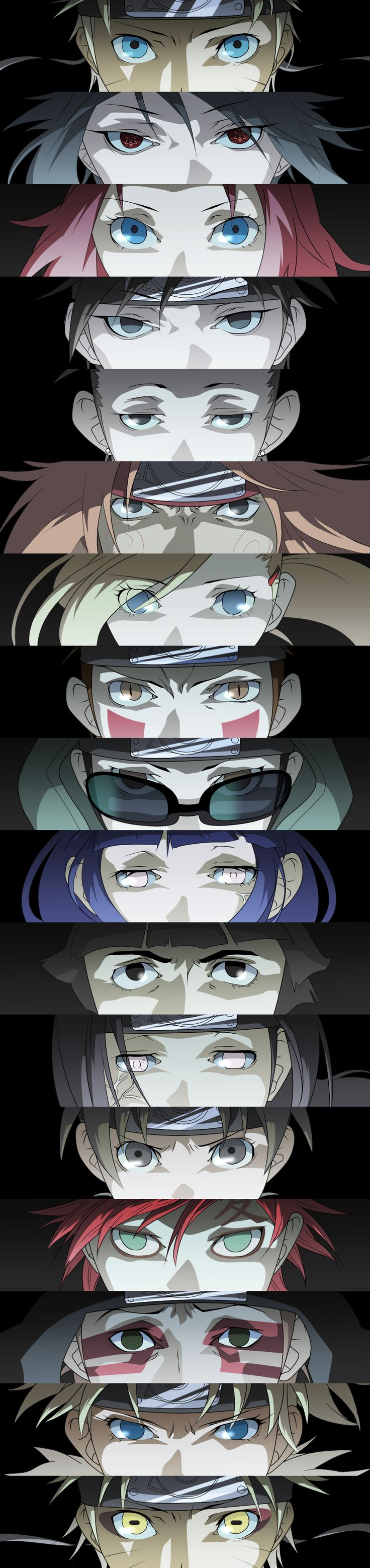 Anime Characters With 3 Eyes : Naruto shippuden eyes i love this pic