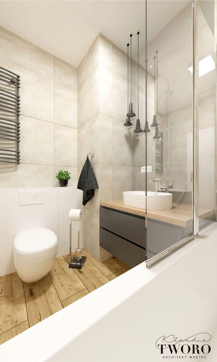 Badezimmer Aus Grau Holz Und Beton Badezimmer Badezimmerideen