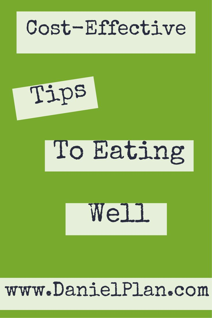 """COST-EFFECTIVE TIPS TO EATING WELL Eating well has a price. Eating cheaper, less healthy foods may results in significant medical costs and consequences down the road. However, following The Daniel Plan can increase your short-term spending by choosing fresh, organic foods and free-range poultry and wild fish and other nuts, legumes, herbs and spices. So we've asked both Dr. Mark Hyman and Dr. Daniel Amen, and volunteer """"Smart Shoppers"""" to give us these cost-effective tips to eating well."""