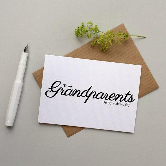 To my Grandparents on my wedding day card. by LoveinaEnvelope