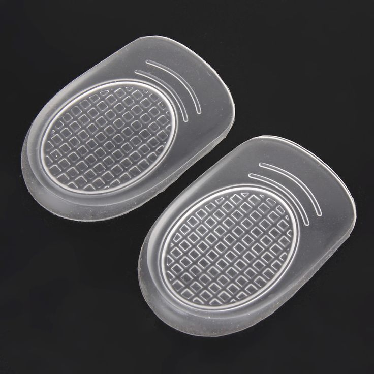 One Pair Soft Medical Silicone Gel Foot Heel Cup Cushion Half Shoe Insoles Shock Absorption