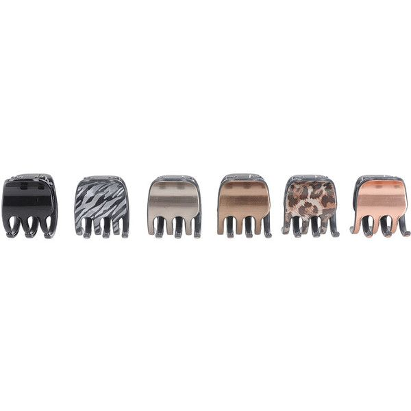 Wild Side Mini Hair Claws (53 UAH) ❤ liked on Polyvore featuring accessories, hair accessories, fillers, hair, beauty, women, forever 21, animal print hair accessories, forever 21 hair accessories and claw hair clips