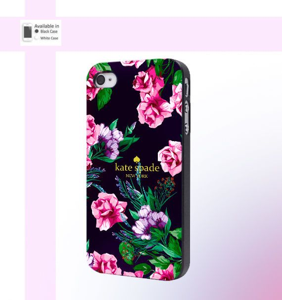 Best New Case Kate Spade Lux Floral Pink Black For iPhone 6/6s,7/7s Hard Plastic #UnbrandedGeneric