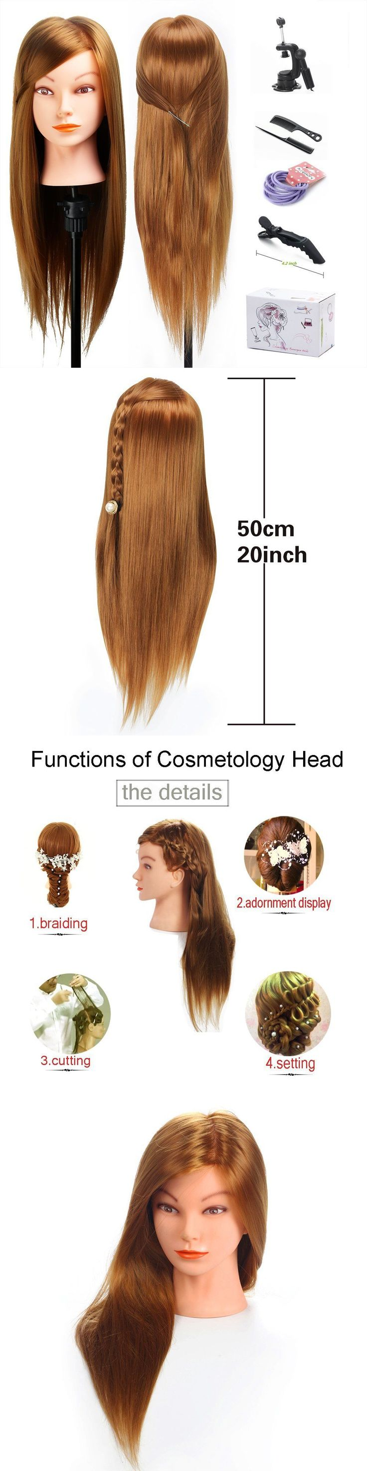 Other Salon and Spa Equipment: Mysweety Mannequin Head 20 Inch Long Hair Styler Cosmetology Manikin Training BUY IT NOW ONLY: $33.62