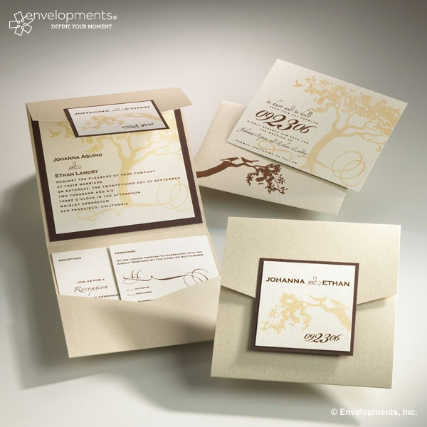 Items similar to Romantic Tree Wedding Invitation Collection on Etsy14 best Wedding Invitations images on Pinterest   Marriage  . Envelopments Wedding Invitations. Home Design Ideas