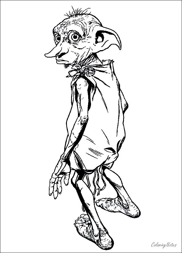 Harry Potter Coloring Pages Dobby Free Printable | Harry ...