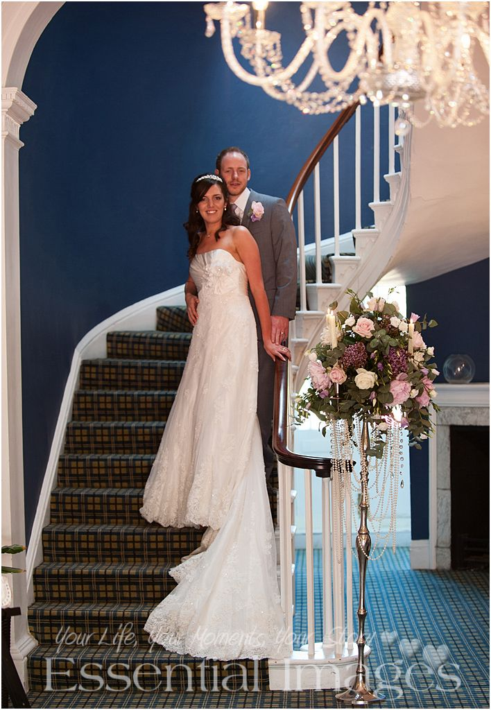The #staircase at East Close is always a favourite for a photograph of the bride and groom.  Photographer Jan @ http://www.essentialimagesweddings.co.uk