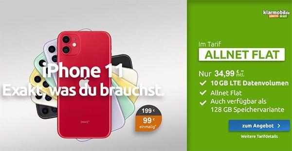 Klarmobil Allnet Flat 10gb 12gb Ab 29 99 Iphone Handyvertrag Mobilfunkvertrag