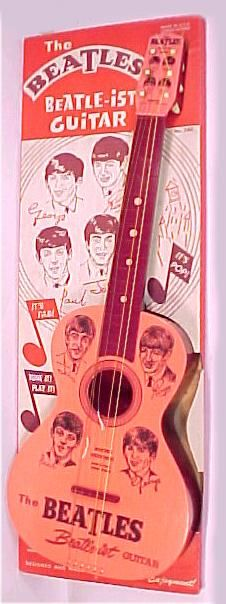 If you were a younger Beatle fan in 1964, you might have begged your parents to buy you a toy Beatle guitar made by Mastro