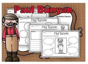 Check out this awesome Paul Bunyan Tall Tales packet! Its no prep for the teacher, just print and go! Students at school or home will love learning about Pecos Bill with these engaging printables! If you are reading about Pecos Bill in your reading or social studies curriculum, this is the perfect complimentary pack.