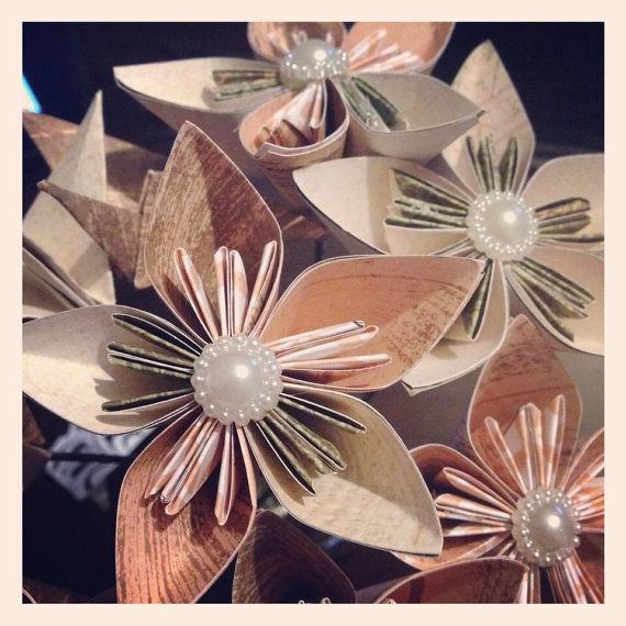 Origami Flower Bouquets for Mothers Day by ArtByReharn on Etsy
