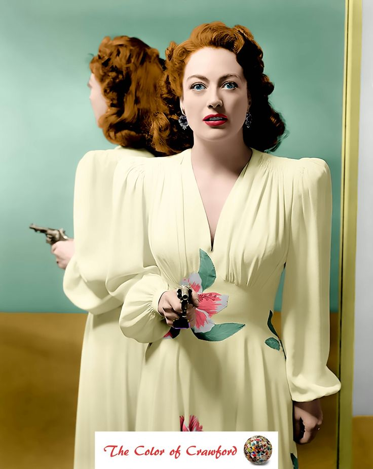 Joan Crawford, 1945, publicity still for the film, Mildred Pierce.