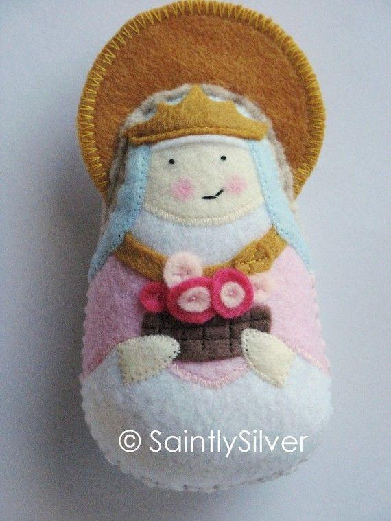 Saint Isabella of Portugal Felt Saint  Softie by SaintlySilver, $19.00