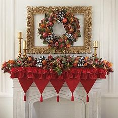 Christmas Wreath - Christmas Garland - Christmas Tree Garland - Grandin Road