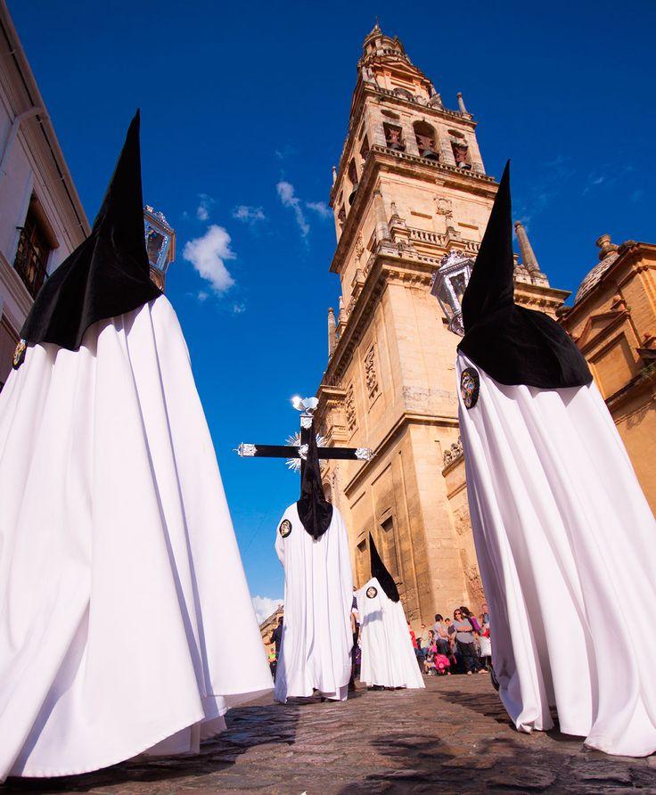 The extraordinarily Christian procession of the Semana Santa (Holy Week) in Cordoba, Spain.