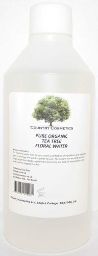 500ml-Pure-Organic-Tea-Tree-el-agua-floral-Incl-libre-Atomiser-Spray