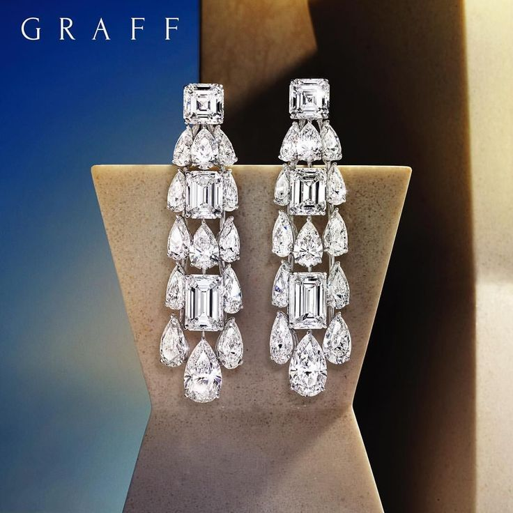 Graff Diamonds (@graff) on Instagram: A fabulous pair of sculptural diamond earrings, presented at the Doha Jewellery and Watches Exhibition #djwe2018 #doha #graffdiamonds