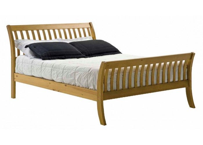 verona design parma small double bed frame in antique pine