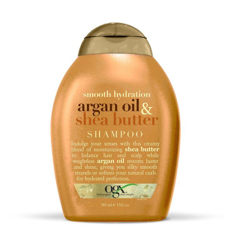 OGX Shampoo, Smooth Hydration Argan Oil & Shea Butter, 13oz