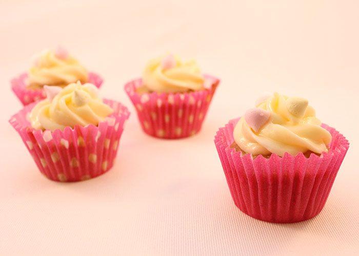 Luscious Peach Cupcakes