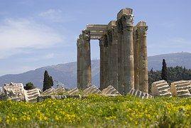 Atenas, Templo, Columnas, Antigua