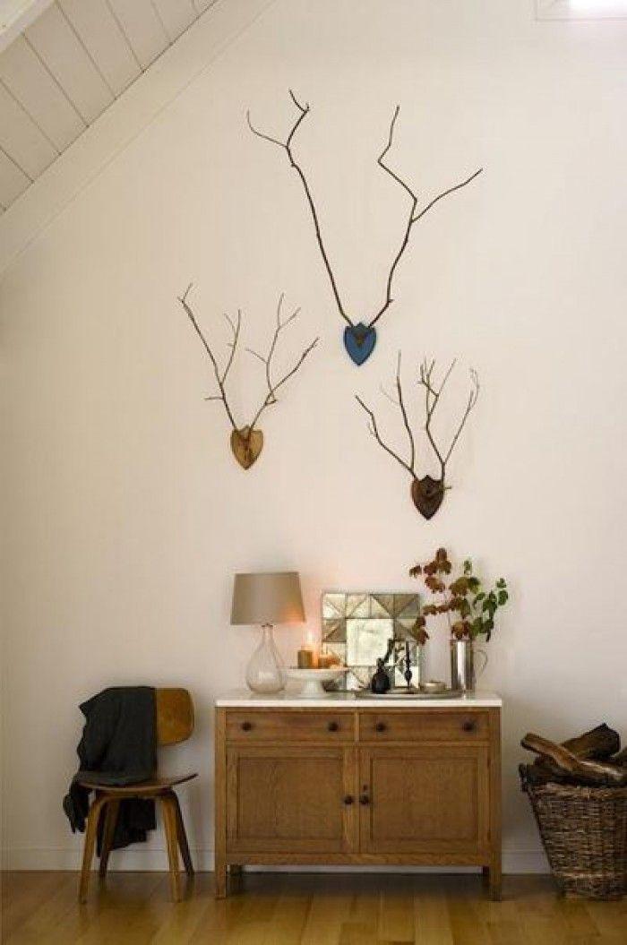 15 pins over gewei decoraties die je moet zien herten for Wit gewei decoratie