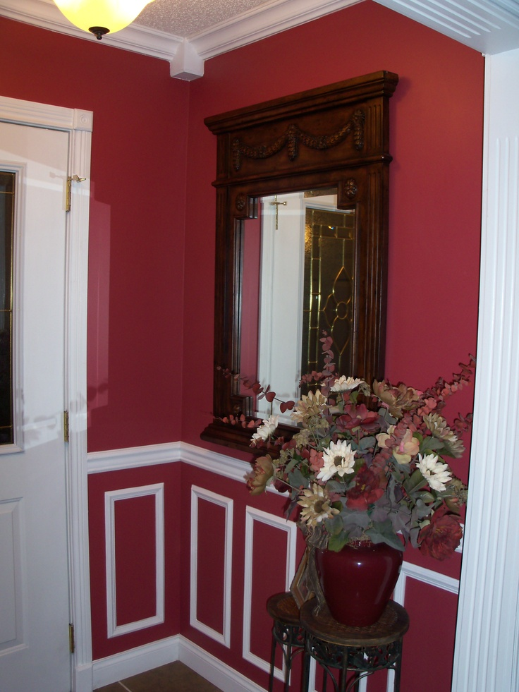 Foyer Chair Rail Wall Frames And Crown Molding With