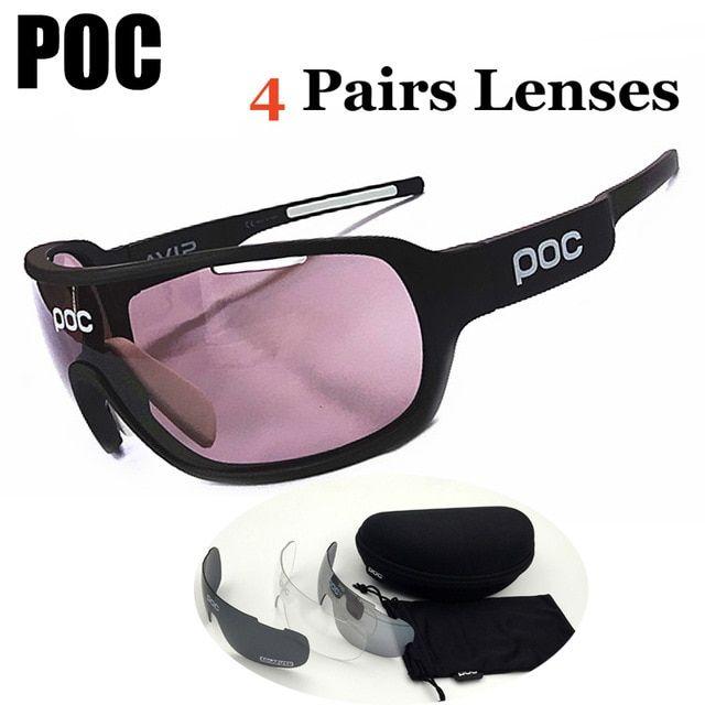125baeb1e6c4 POC Sun glasses 4 Lens Polarized Cycling Eyewear Men Women Sports Bike  Bicycle SUNGlasses Outdoor Review