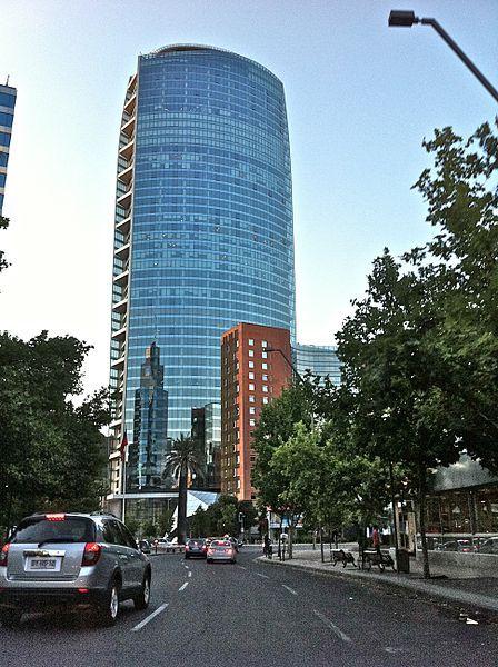 La Torre Titanium La Portada es un rascacielos emplazado en el límite entre las comunas de Vitacura, Providencia y Las Condes en Santiago de Chile, ubicado en la avenida Andrés Bello, en el sector de Isidora Goyenechea.