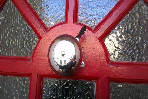 A recycled bicycle-Most creative door bells