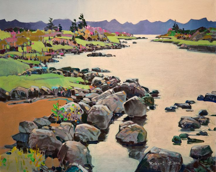 """Bright Estuary, Northern Inlet,"" by Robert Genn 24 x 30 - acrylic"