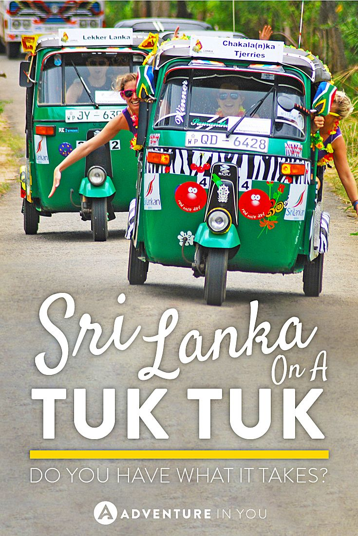 Looking for something crazy and unusual to do? How does driving a tuk tuk across Sri Lanka sound? Do you have what it takes?