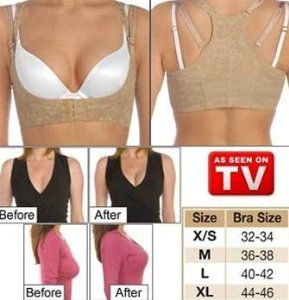 The Original Bustline Shaper (Beige) - Medium (Bra Size 36-38) by Original TV Products. $7.30. Great Lift & Support for Bust. Cleavage is immediately enhanced without annoying bra inserts or costly surgery. Comfortable & Adjustable. Use With Any Bra. Helps Improve Posture. AS SEEN ON TV!!!! Enhance your natural beauty and instantly look like a Victorias Secret Angel. This high quality undergarment lifts your breasts and enhances your cleavage. Get fuller and firmer looking brea...