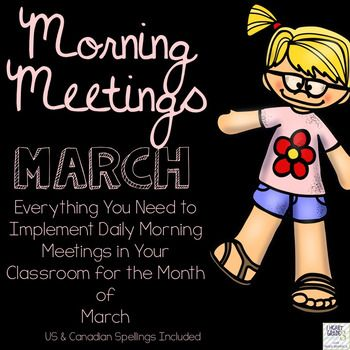 Have you heard about Morning Meetings? Are you wanting to start but not sure how? You don't have the time to come up with the daily themes and activities? If you answered yes to any of these questions, then this is the perfect package for you!