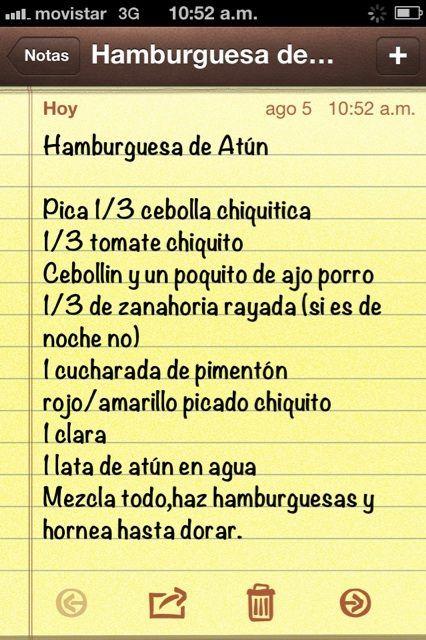 Receta de hamburguesa de atun. *Come con ensalada o vegetales al vapor si es de cena. @gablaguna Photo - Sascha Barboza | Lockerz