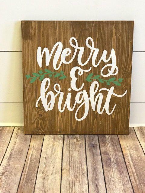Xmas – Merry & Bright – Wood & Vino