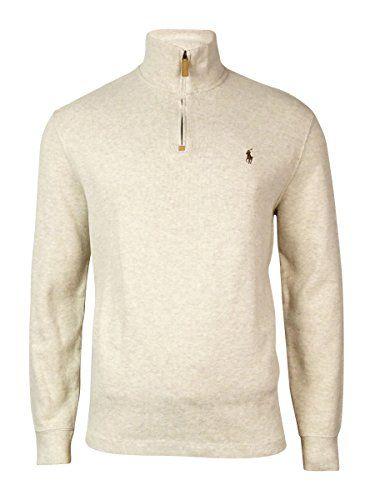 53de0a35822 Polo Ralph Lauren Mens Half Zip French Rib Cotton Sweater  shirts  sweater   top  mens  clothing  fashion