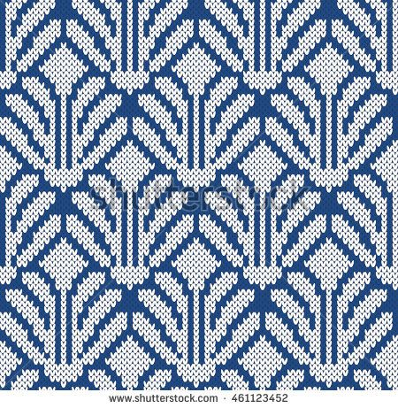 Flowers Seamless Knitting Pattern