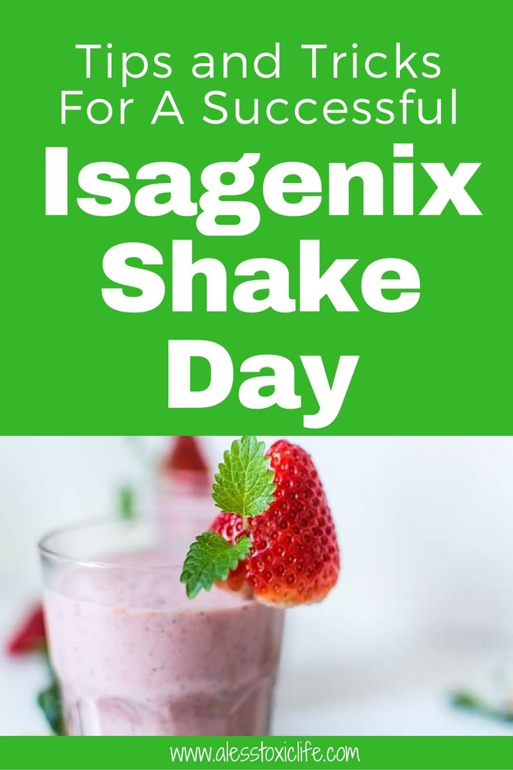 Isagenix Shake Day Schedule
