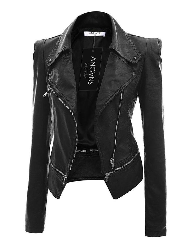 Women's Faux Leather Jacket | Shopping | Pinterest | Faux leather ...