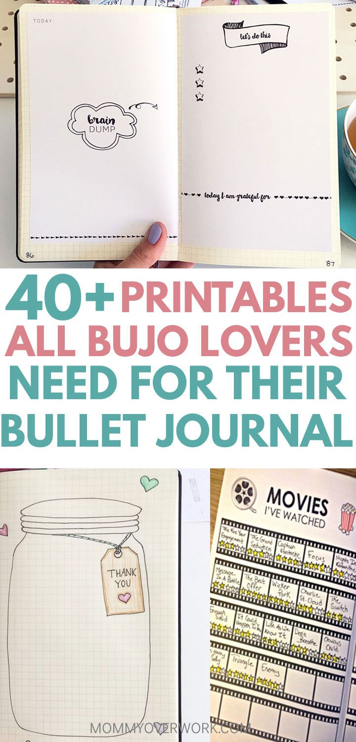 40+ free bullet journal template pdf pages to inspire your bujo title box atop 3 weekly spread and task list collage