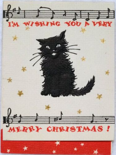 61 best Black Cat Christmas images on Pinterest | Christmas cats ...