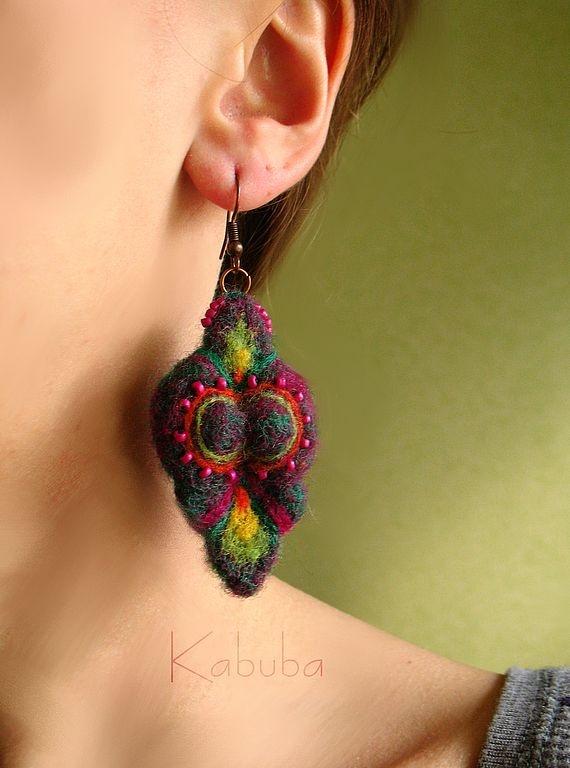 Handmade earrings. Fair Masters - handmade earrings felt different :). Handmade.